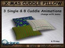 Christmax Xmas Advent Cuddle Pillow *Time for Two* Nr.1