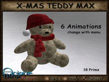 Christmax Xmas Advent Sitting Teddy Max with Animations *PROMO PRICE FOR XMAS*