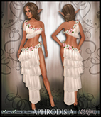 [Wishbox] Aphrodisia (Blushing Ivory): Fantasy Goddess Silks Dress