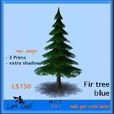 Fir tree blue new by Leni Galli L