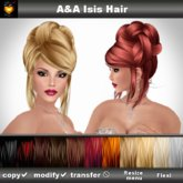 A&A Isis Hair 11 Colors Variety Pack (elegant updo hairstyle).