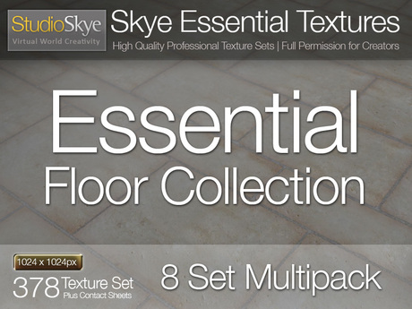 SAVE L$1000 - Skye Essential Floor Collection - 8 SET MULTIPACK - 378 Full Perms