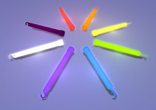 Mesh Glowstick Rainbow