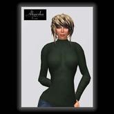 Akaesha's Ribbed Turtleneck Sweater - Green W