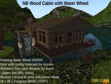 NB Wood Cabin with Water Wheel