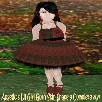 Angelic's Lil Girl Goth Skin Shape 9 Complete Avi Boxed