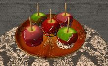 CJ Caramel Apple on standing Plate - c + m -