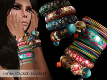 Zaara : Indra painted stacked bangles