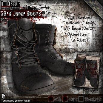TonkTastic - 50's Jump Boots [Black]
