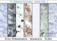 Terrain Textures: Snow Vol. 1 - Full Permissions