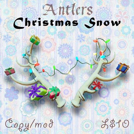 TBF Antlers - Christmas Snow - PERFECT CHRISTMAS GIFT