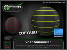 ●GD● Chat Announcer [Say/Shout/Whisper, many options, COPYABLE] Shouter Chatter Orb