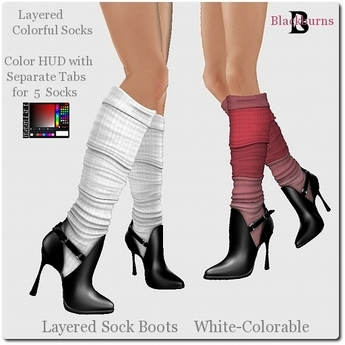 Blackburns Layered Sock Boots White-Colorable