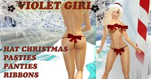 [VIOLET GIRL] PASTIES RIBBONS CHRISTMAS