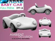 ABAR - TOY003 BABY CAR / TOY / CHILDREN - sculpt - AMBIENT OCLUSION  - Full Perm