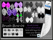brushes bow photoshop 04 +PSD