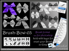 brushes bow photoshop 03 + PSD