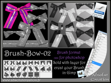 brushes bow photoshop 02 + PSD