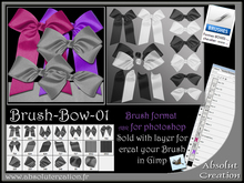 brushes bow photoshop 01 brushes + PSD