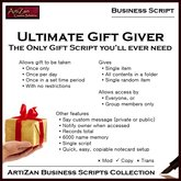 ArtiZan Business Script: Ultimate Gift Giver - The only gift script you'll ever need