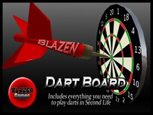 Blazen Dart Board (Playable Darts with auto scoring)