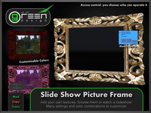 ●GD● Slide Show Picture Frame [Tintable Multi Color, Slideshow] Many customizable options, Photo Screen Texture Monitor