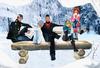 """[LA] LOSTANGEL:  """"The Winter Bench"""" - Friends Pose"""