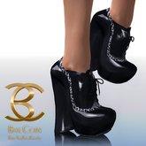 BAX Booties Black Patent
