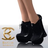 BAX Booties Black Reptile