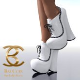 BAX Booties White Patent