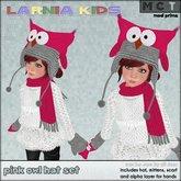 ~* Larnia Kids *~ pink owl hat set
