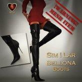 Similar Bellona Black Mesh Boots
