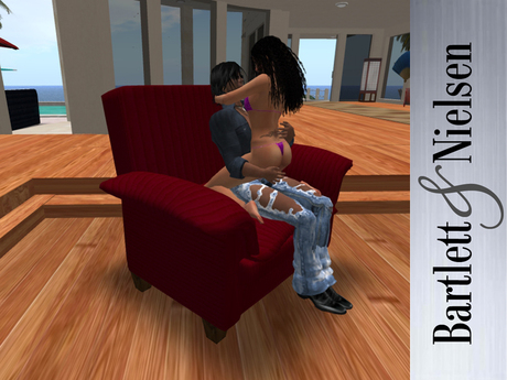Second Life Marketplace Modern Recliner chair 8.0 Red Tuft