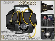 ::KAZ:: Black Ipod black leather armband