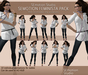 SEmotion Feminista Animation Pack - 10 standing animations