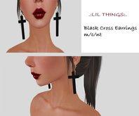 Black Cross Earrings [Boxed]