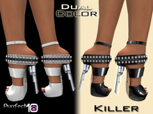 """Killer Heels """"Patent White"""" with free skin toner from purrfect 10"""