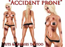 "::ED:: ""Accident Prone"" bruised body tattoo UNISEX"