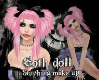 "::ED:: ""Goth Doll"" stitching tattoo"