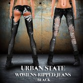 "::ED:: ""Urban state womens jeans"" BLACK"