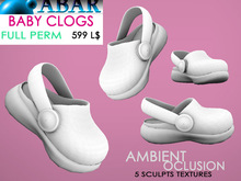 ABAR - SH009 BABY CLOGS CHILD / KID / SHOES - sculpt - AMBIENT OCLUSION  - Full Perm