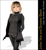 - Quintessencia - Julian Vest and Sweater Black -