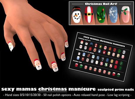 *Sexy Mamas* Christmas Manicure - Sculpted Prim Nails - Holiday Nails