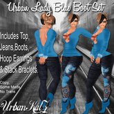 Urban Lady Blue Boot Set