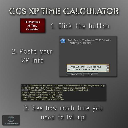 .::TT::. CCS XP Time Calculator (Boxed HUD)