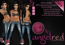 AngelRED - FULL PERM AR London Jeans Template