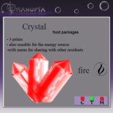 Dranopia 20 Fire Crystal (birth element Fire)