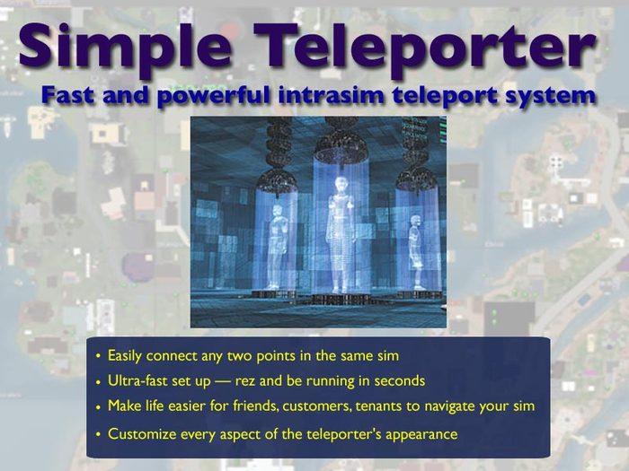 Simple Teleport: Powerful Intra-Sim Teleporter System