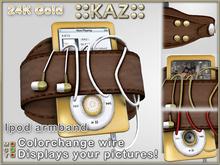 ::KAZ:: 24K Gold Ipod chestnut brown armband