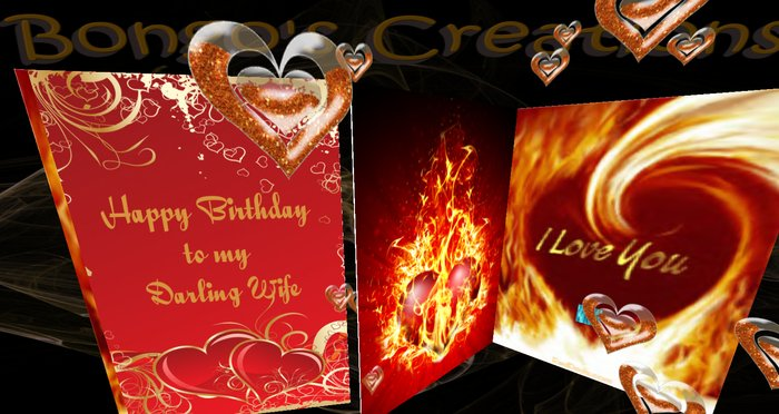 Excellent Second Life Marketplace Bc Musical Happy Birthday Darling Wife Personalised Birthday Cards Rectzonderlifede
